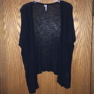 Black XL thin short sleeve sweater